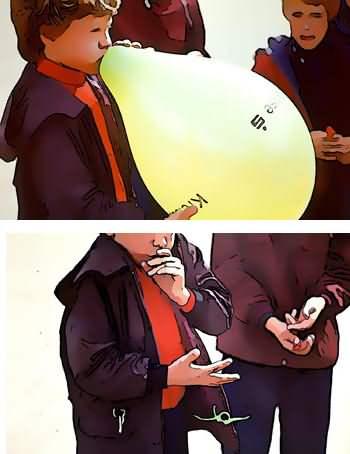 luftballon zerplatzen